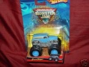Hot Wheels Monster Jam 2012 Bad News Travels Fast (Purple) 1:64 Topps Trading Card Included