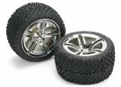 Traxxas Assembled/Glued Rear Tyres & Wheels