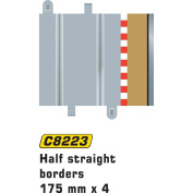 Scalextric C8223 Half Straight Border/Barrier 1:32 Scale Accessory