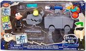 Disney Phineas and Ferb Exclusive Across The 2nd Dimension Playset Ferb My Ride Robot Dog Resistance Phineas