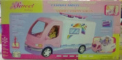 Barbie R/V Camper Mobile Home for 28cm x 30cm Fashion Dolls Sweet Holiday Mobile Sweet Home Petite Maison Mobile