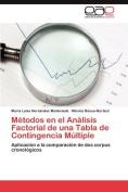 Metodos En El Analisis Factorial de Una Tabla de Contingencia Multiple [Spanish]
