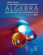 Aim for Success Practice Sheets for Aufmann/Lockwood's Algebra