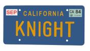 Knight Rider Knight Licence Plate Replica