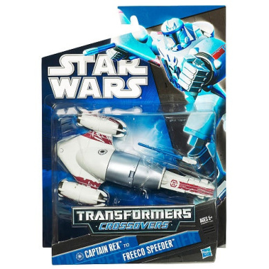 Star Wars Transformers Crossovers Action Figure - Captain Rex to Freeco Speeder