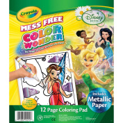 Crayola Colour Wonder Colouring Pad-Disney Fairies, 12 Pages