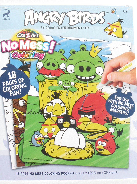 Cra-Z-Art No-Mess Colouring Book - Angry Birds