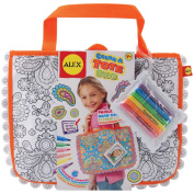 ALEX Toys - Colour a Tote Bag Kit, Paisley Flower