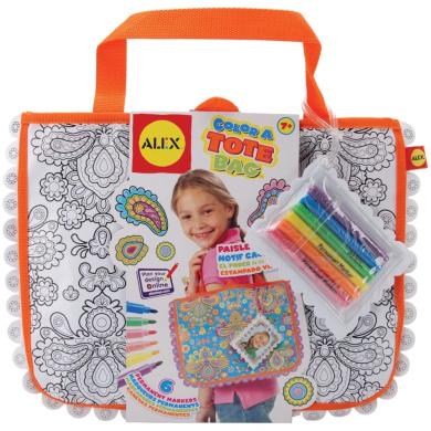 ALEX Toys - Colour a Tote Bag Kit, Paisley Flower