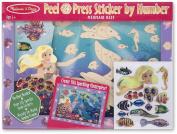 Melissa & Doug Peel & Press Sticker By Number-Mermaid Reef