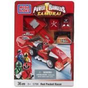 Mega Bloks Power Rangers Samurai Red Pocket Racer