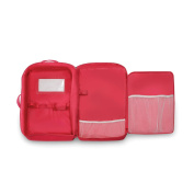 Badger Basket Double Doll Travel Case with Bunk Bed and Bedding - Dark Pink