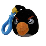 Mayflower 221866 Plush Angry Birds Backpack Clip On - Black