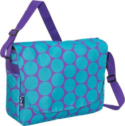Wildkin 38119 Big Dots Aqua Laptop Messenger Bag - Ashley Rosen