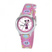 Disney Kid's Minnie Mouse Stainless Steel Time Teacher Watch -Print