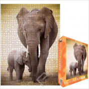 Elephant and Baby Jigsaw Puzzle, 1000 pieces Eurographics