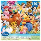 Disney Panorama of Friends Lenticular Puzzle - 150-Piece