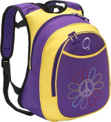 O3 O3KCBP014 Kids Pre-School All-in-One Backpack With Cooler - Peace Flower