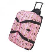 Wildkin 51020 Horses in Pink Good Times Rolling Duffel Bag - Jamie Kalvestran