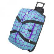 Wildkin 51119 Big Dots Aqua Good Times Rolling Duffel Bag - Ashley Rosen