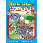 School Zone Sticker Workbook, Alphabet Fun, Grades P-K