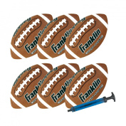 Franklin Sports Official Grip Rite Football with Pump - 6 - Pack - Junior