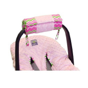 Itzy Ritzy TTM8054 Wrap & Roll Infant Carrier Arm Pad & Tummy Time Mat - Little Miss Zig Zag