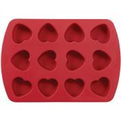 """Mini Silicone Mould-12 Cavity Petite Heart 3.8cm x 3.8cm X1"""""""