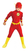 DC Comics The Flash Muscle Chest Deluxe Halloween Costume - Child Size Medium