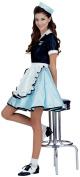 Car Hop Girl Halloween Costume - Adult Standard One Size
