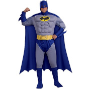 Batman The Brave & The Bold Deluxe Muscle Chest Halloween Costume - Adult Plus Size 44-50