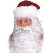 Professional Quality white Santa Claus Father Christmas wig, beard and eyebrow set