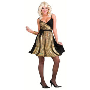 70's Disco Gold Dress Halloween Costume - Adult Size One Size