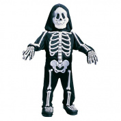 Boo! White Bones Halloween Costume - Toddler Size Small 3T-4T