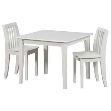 Solutions By Kids R Us Wood Table And Chair Set White By