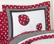 JoJo Designs Polka Dot Ladybug Collection Children's Bedding - 4-Piece Twin Set