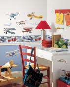 RoomMates Vintage Planes Peel & Stick Border