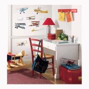 Roommates RMK1197SCS Vintage Planes Peel & Stick Applique