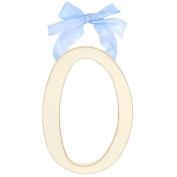 New Arrivals 23cm White Wooden Hanging Letter Room Decor O - Blue Ribbon