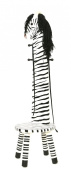 Teamson Kids Childrens Wooden Zebra High Backed Coat Stand Kids Rack and Stool Seat with Hooks W-1945Z