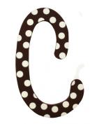 My Baby Sam Polka Dot Letter e, Brown/White
