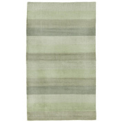 St. Croix Trading Company 1.5m x 2.4m Area Rug - Green & Light Green Stripes