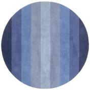 St Croix Trading Company Aspect Blue Stripes 6x6 Round Area Rug