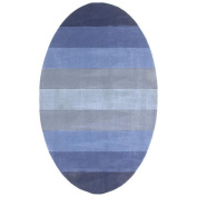 St Croix Trading Company Aspect Blue Stripes 5x8 Area Rug