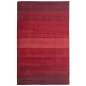 St Croix Trading Company Aspect Red Stripes  8x10 Area Rug