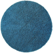 St Croix Trading Company Shagadelic Blue Chenille Twist 3x3 Round Area Rug