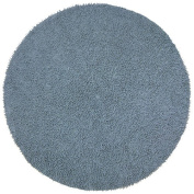 St Croix Trading Company Shagadelic Grey Chenille Twist 3x3 Round Area Rug