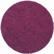 St Croix Trading Company Shagadelic Purple Chenille Twist 3x3 Round Area Rug