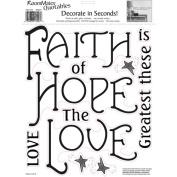 Roommates Peel & Stick Quotables - Faith, Hope & Love