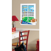 Roommates Game Day Football Peel & Stick Window Wall Decals